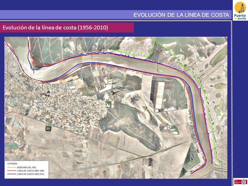 Evolución de la línea de costa (1956-2010) EVOLUCIÓN DE LA LÍNEA DE COSTA