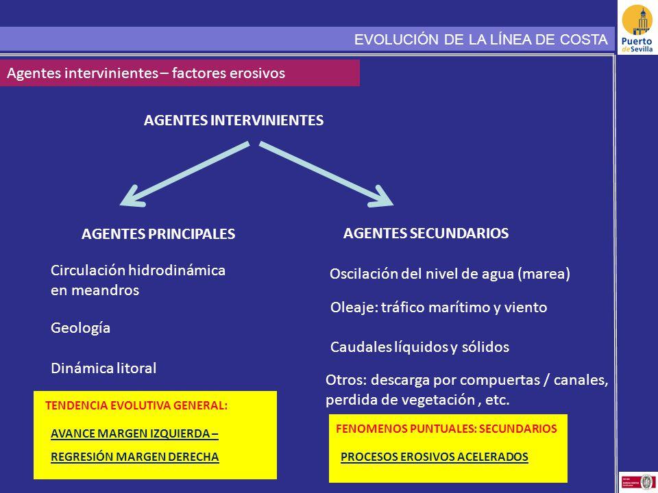 AGENTES INTERVINIENTES Agentes intervinientes – factores erosivos AGENTES PRINCIPALES AGENTES SECUNDARIOS TENDENCIA EVOLUTIVA GENERAL: Geología Circul