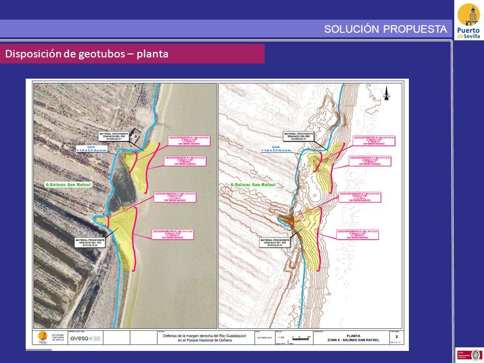 SOLUCIÓN PROPUESTA Disposición de geotubos – planta