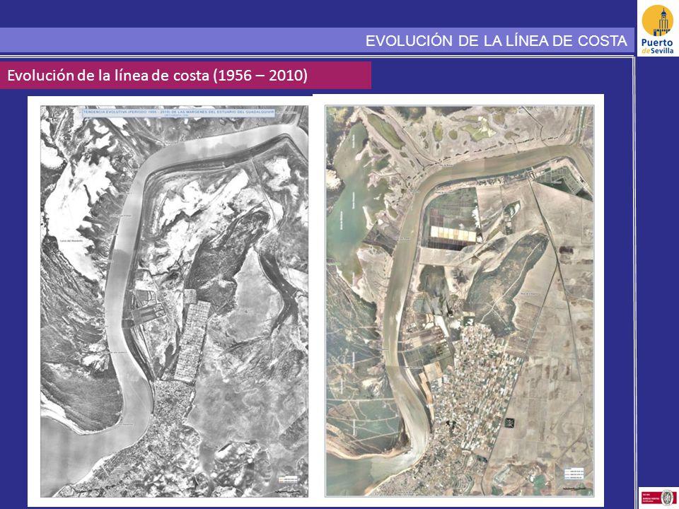 Evolución de la línea de costa (1956 – 2010) EVOLUCIÓN DE LA LÍNEA DE COSTA