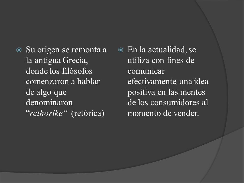 Su origen se remonta a la antigua Grecia, donde los filósofos comenzaron a hablar de algo que denominaronrethorike (retórica) En la actualidad, se uti