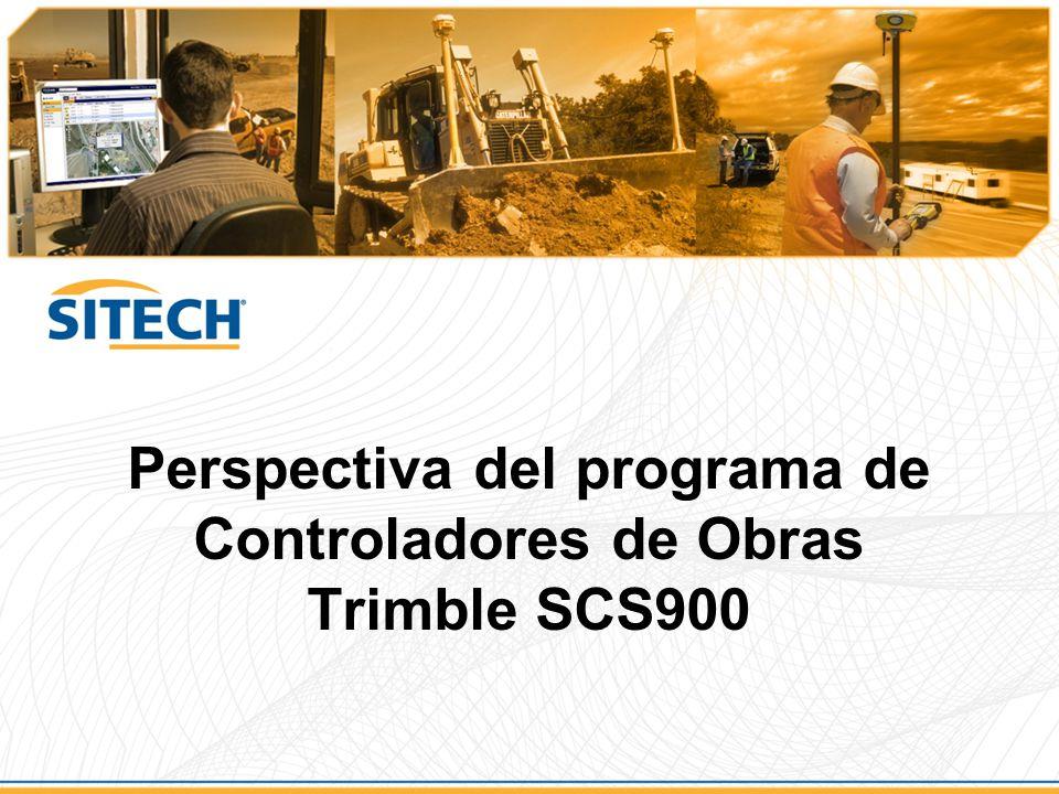 Perspectiva del programa de Controladores de Obras Trimble SCS900