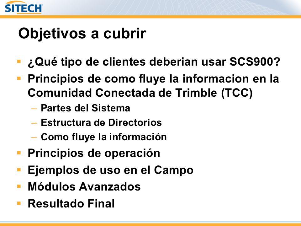 Objetivos a cubrir ¿Qué tipo de clientes deberian usar SCS900.