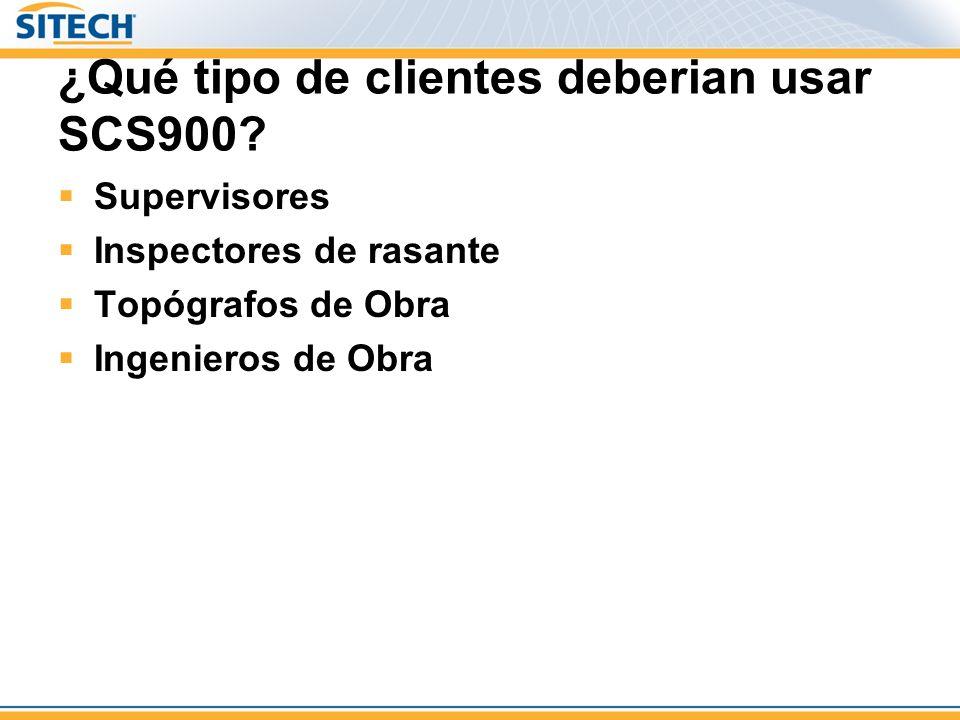 ¿Qué tipo de clientes deberian usar SCS900.