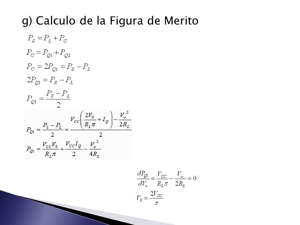 g) Calculo de la Figura de Merito