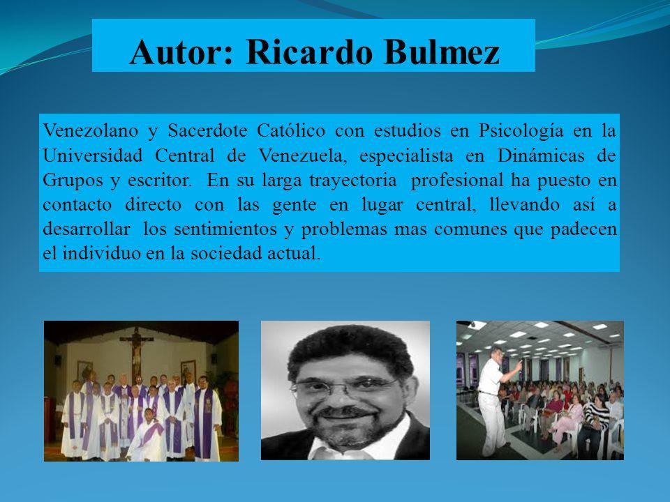 Venezolano y Sacerdote Católico con estudios en Psicología en la Universidad Central de Venezuela, especialista en Dinámicas de Grupos y escritor. En