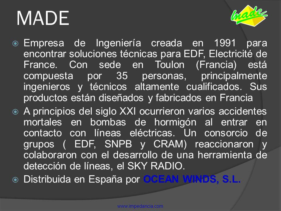 MADE Empresa de Ingeniería creada en 1991 para encontrar soluciones técnicas para EDF, Electricité de France. Con sede en Toulon (Francia) está compue
