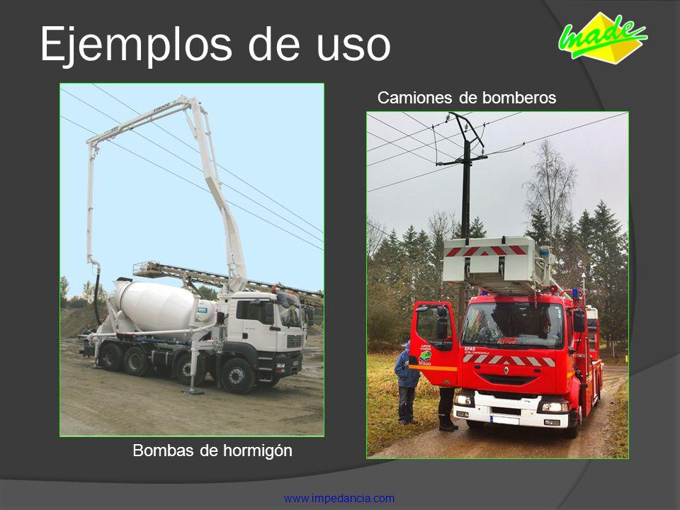 Ejemplos de uso Camiones de bomberos Bombas de hormigón www.impedancia.com