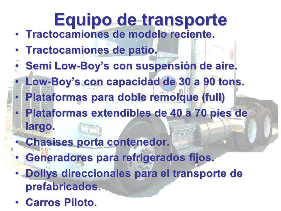 Equipo de transporte Tractocamiones de modelo reciente.Tractocamiones de modelo reciente. Tractocamiones de patio.Tractocamiones de patio. Semi Low-Bo