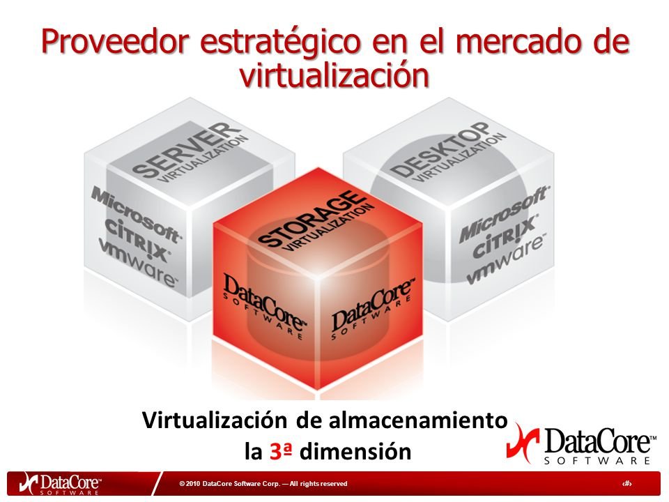 3 © 2010 DataCore Software Corp.