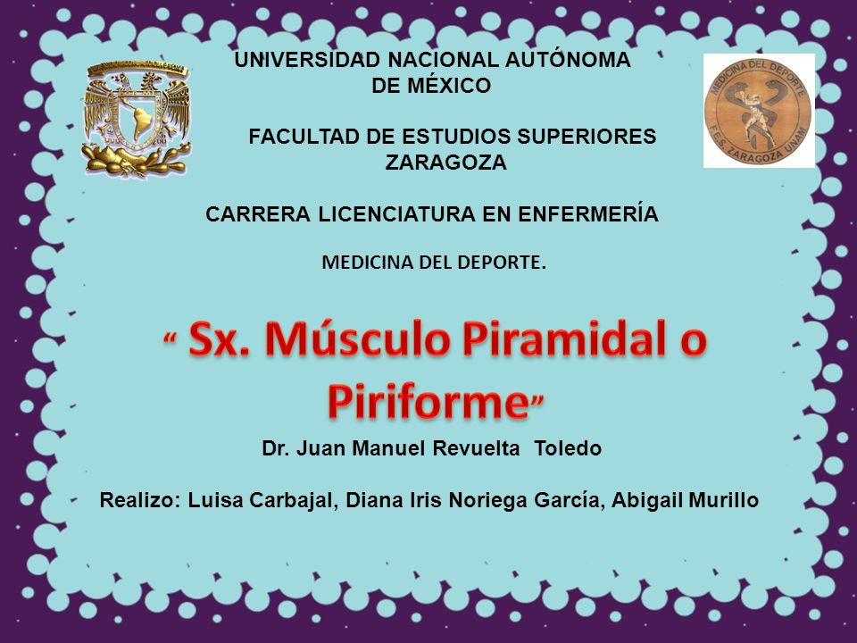 UNIVERSIDAD NACIONAL AUTÓNOMA DE MÉXICO FACULTAD DE ESTUDIOS SUPERIORES ZARAGOZA CARRERA LICENCIATURA EN ENFERMERÍA MEDICINA DEL DEPORTE. Dr. Juan Man