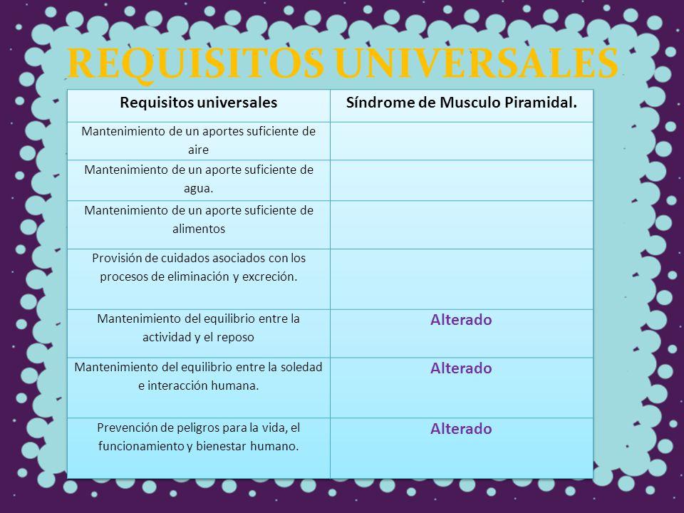 REQUISITOS UNIVERSALES