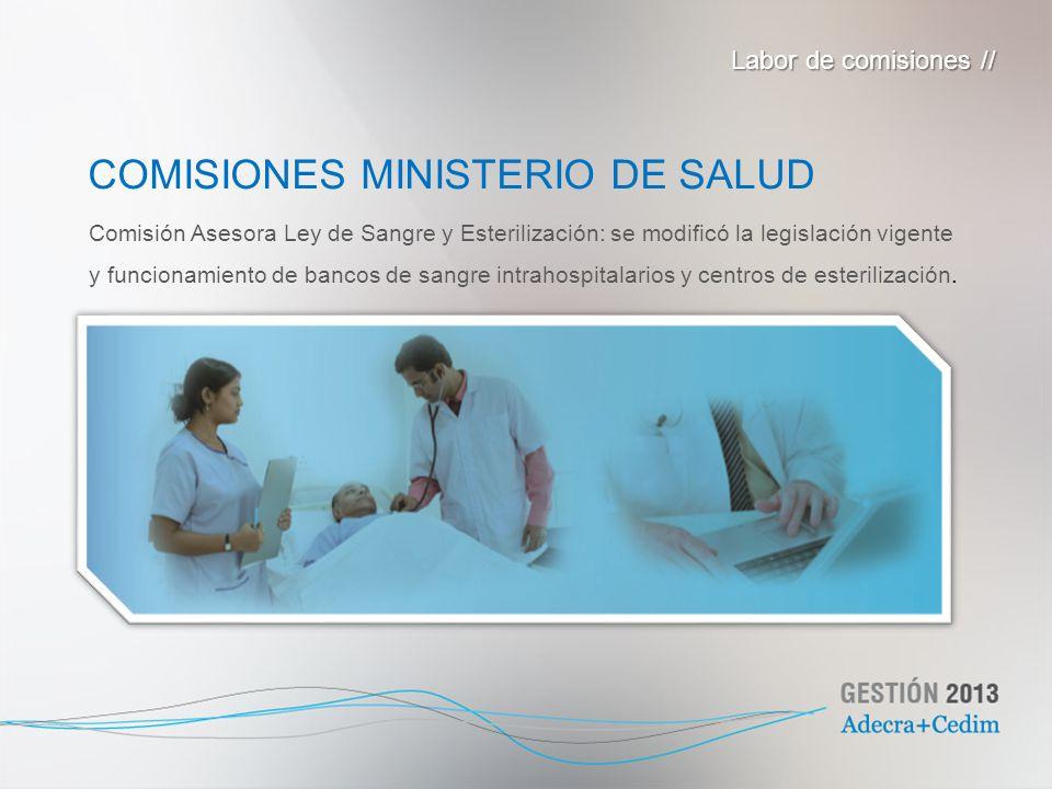 Comisión Asesora Ley de Sangre y Esterilización: se modificó la legislación vigente y funcionamiento de bancos de sangre intrahospitalarios y centros