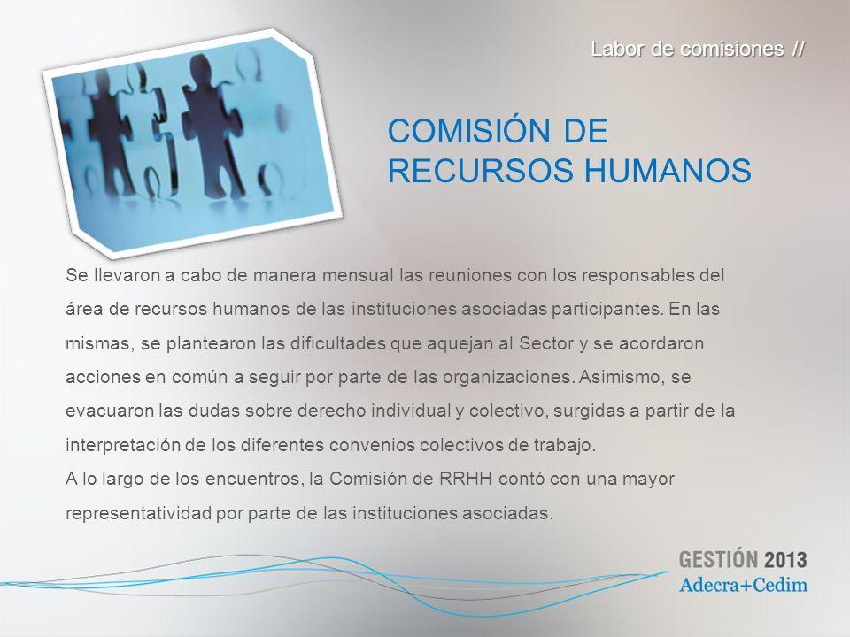 Se llevaron a cabo de manera mensual las reuniones con los responsables del área de recursos humanos de las instituciones asociadas participantes. En