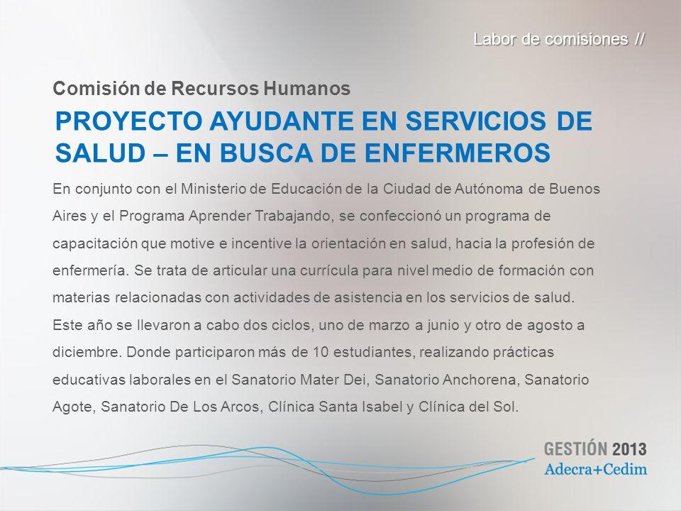 En conjunto con el Ministerio de Educación de la Ciudad de Autónoma de Buenos Aires y el Programa Aprender Trabajando, se confeccionó un programa de c