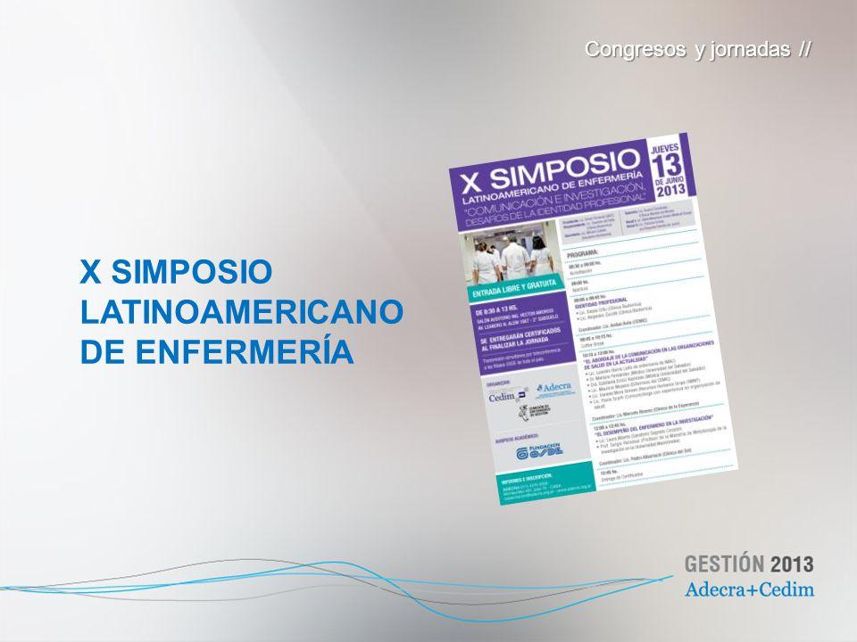 X SIMPOSIO LATINOAMERICANO DE ENFERMERÍA