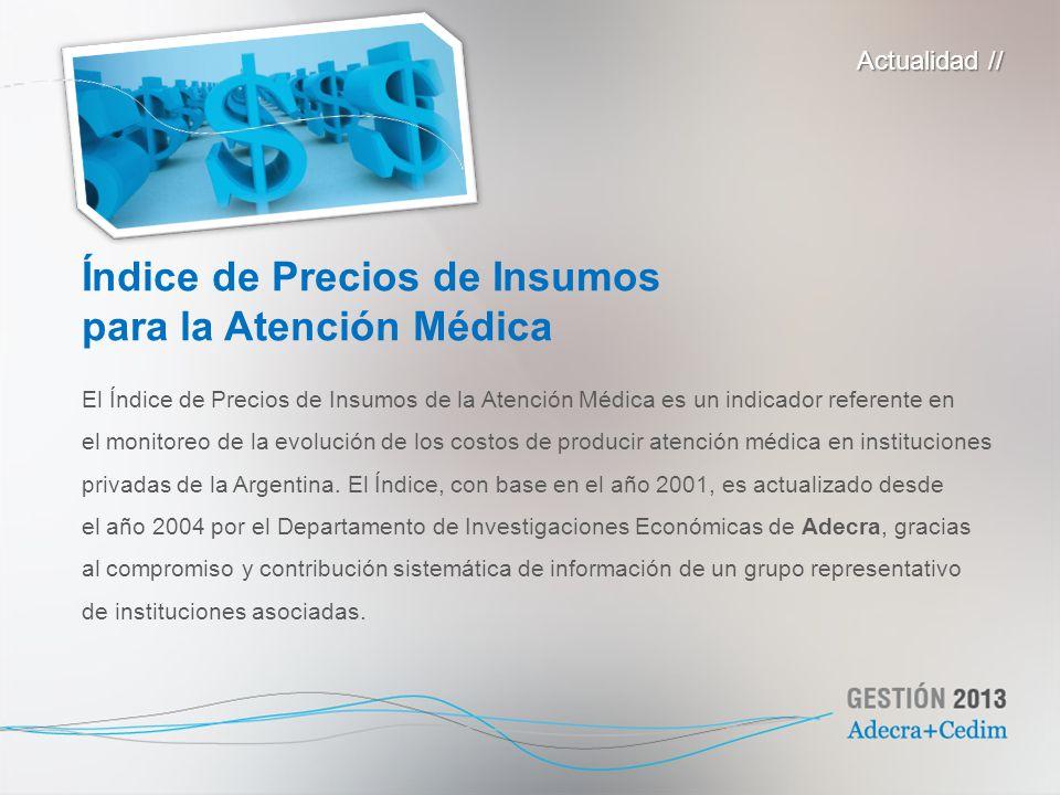 El Índice de Precios de Insumos de la Atención Médica es un indicador referente en el monitoreo de la evolución de los costos de producir atención méd