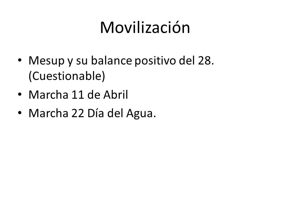 Movilización Mesup y su balance positivo del 28.
