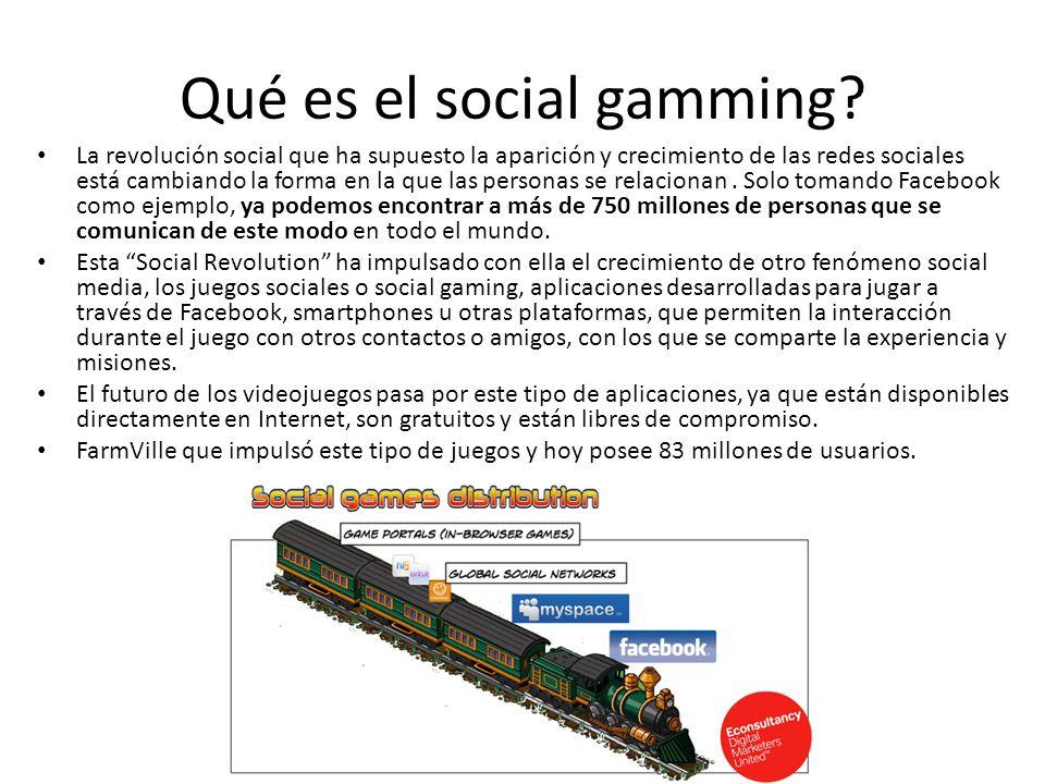 Qué es el social gamming.
