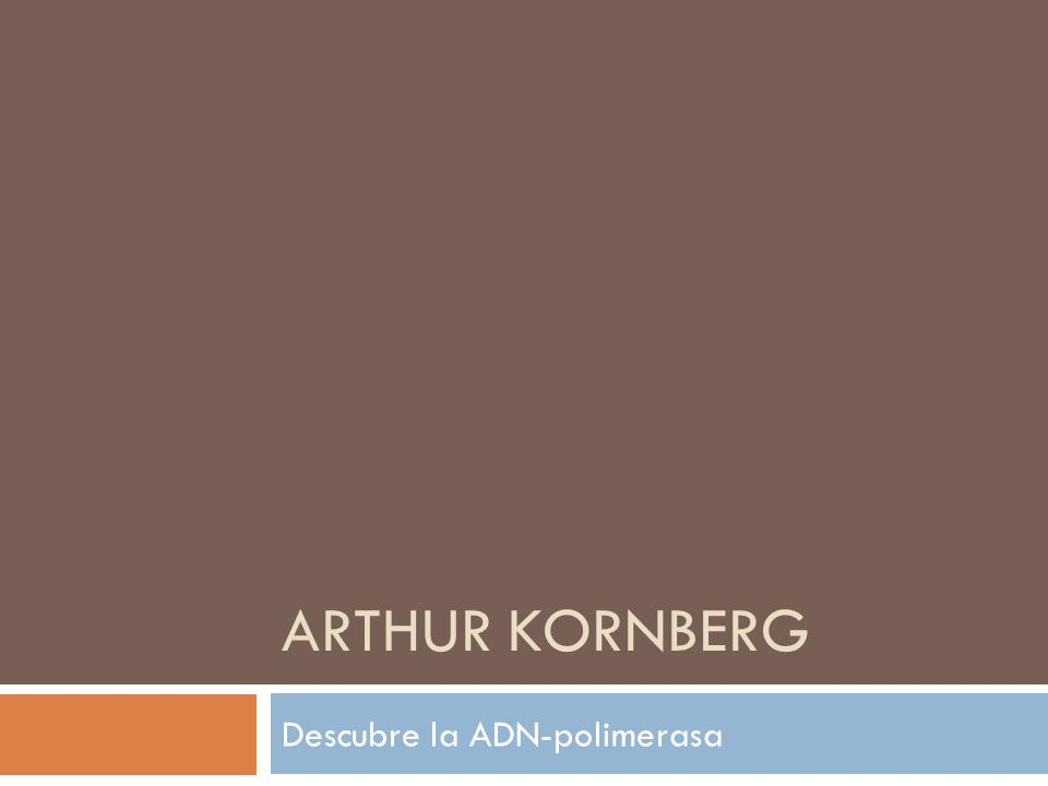 ARTHUR KORNBERG Descubre la ADN-polimerasa
