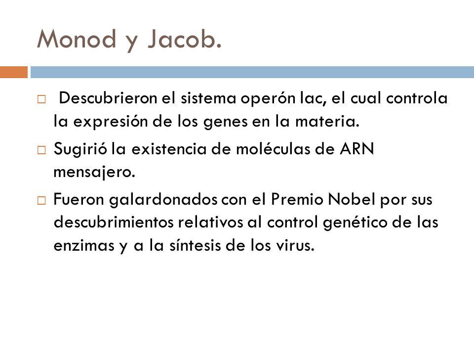 Monod y Jacob.