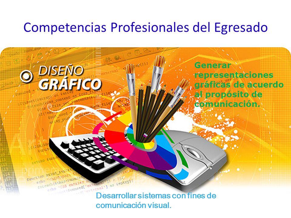 Competencias Profesionales del Egresado Generar representaciones gráficas de acuerdo al propósito de comunicación.