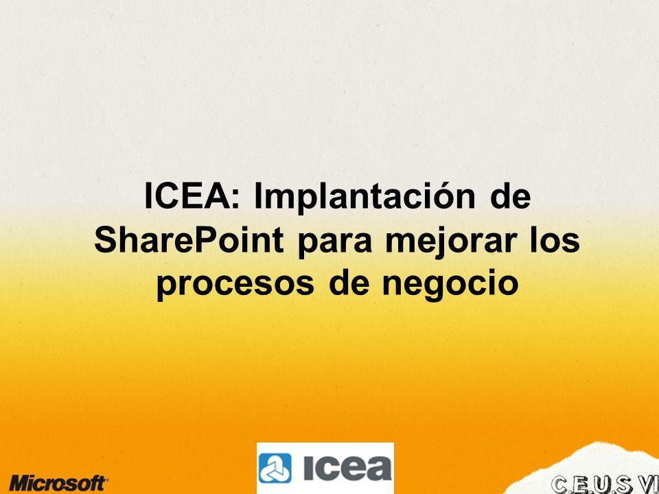 ICEA: Implantación de SharePoint para mejorar los procesos de negocio