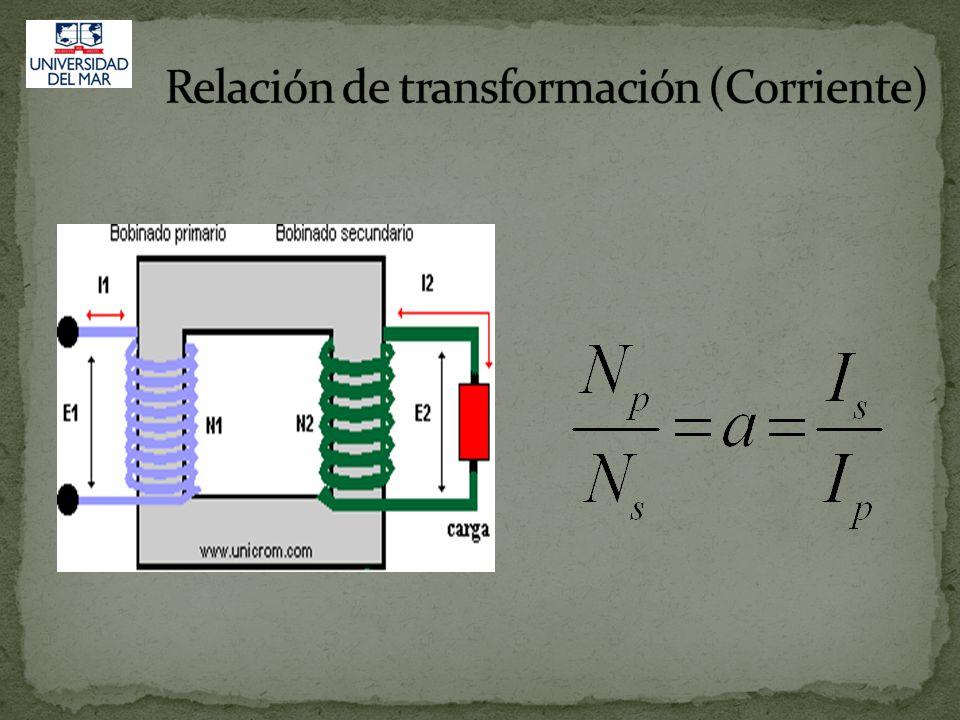 (t) Considerando que la conversión se realiza prácticamente sin pérdidas: Pot entrada Potencia salida P 1 P 2 : U 1 *I 1 =U 2 *I 2 Las relaciones de t