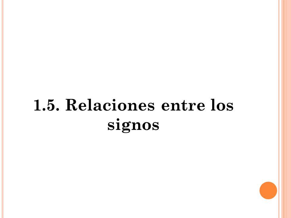 1.5. Relaciones entre los signos