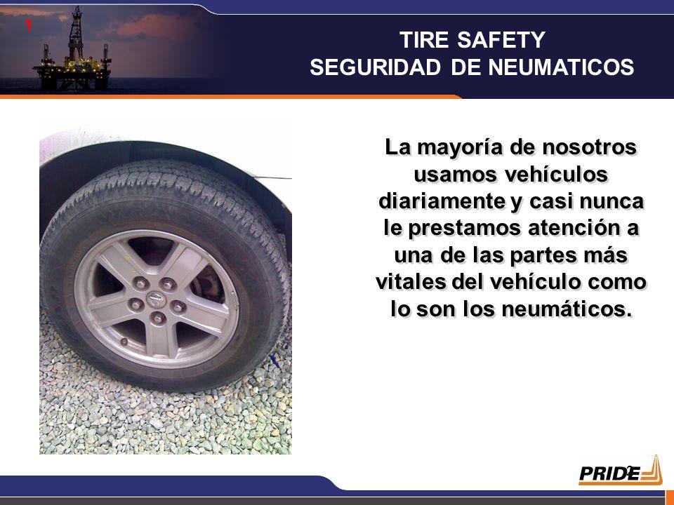 1 TIRE SAFETY SEGURIDAD DE NEUMATICOS SAFETY is the number 1 value of the company!!! Louis Raspino, President & CEO Pongan los Altavoces Pongan los Al