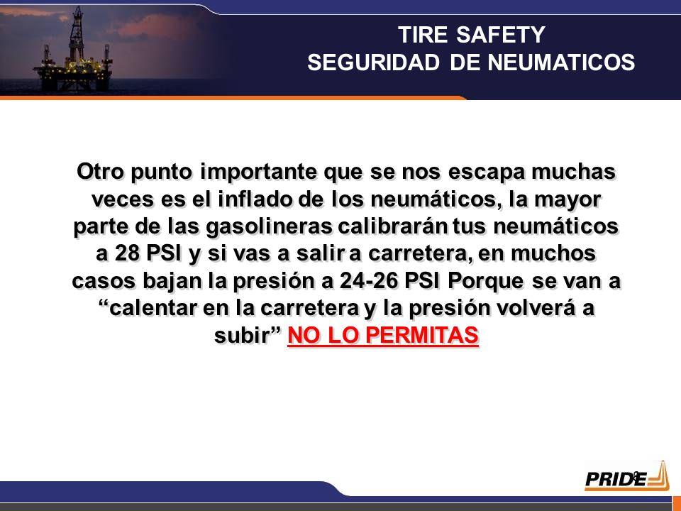 7 Si utilizamos neumáticos caducados, es posible que estos revienten y el resultado puede ser un accidente muy grave incluso fatal, sería muy buena co