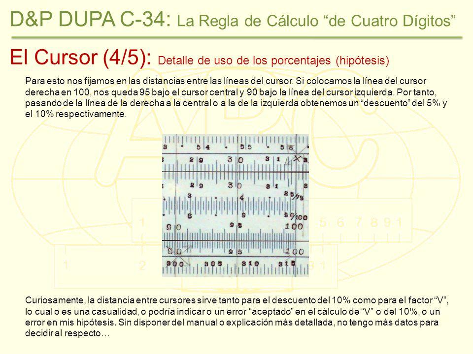 El Cursor (4/5): Detalle de uso de los porcentajes (hipótesis) Para esto nos fijamos en las distancias entre las líneas del cursor.