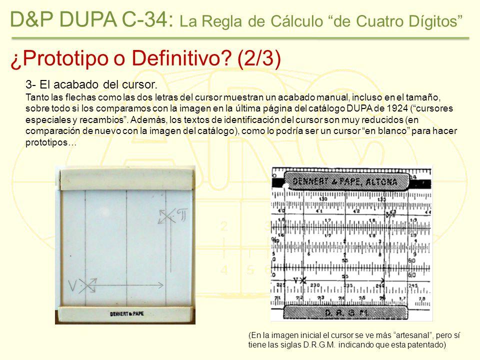 ¿Prototipo o Definitivo.(2/3) 3- El acabado del cursor.