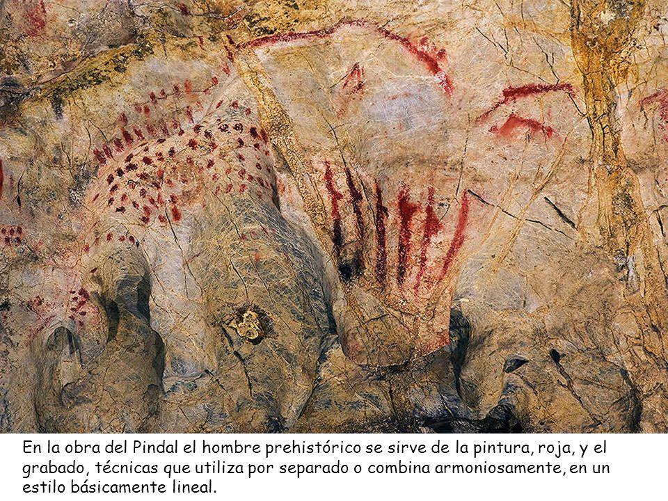 Sin salir de El Pindal, a la izquierda se observa la imagen de la Gran Cierva del panel principal con crestones superpuestos. Se cree que fueron reali