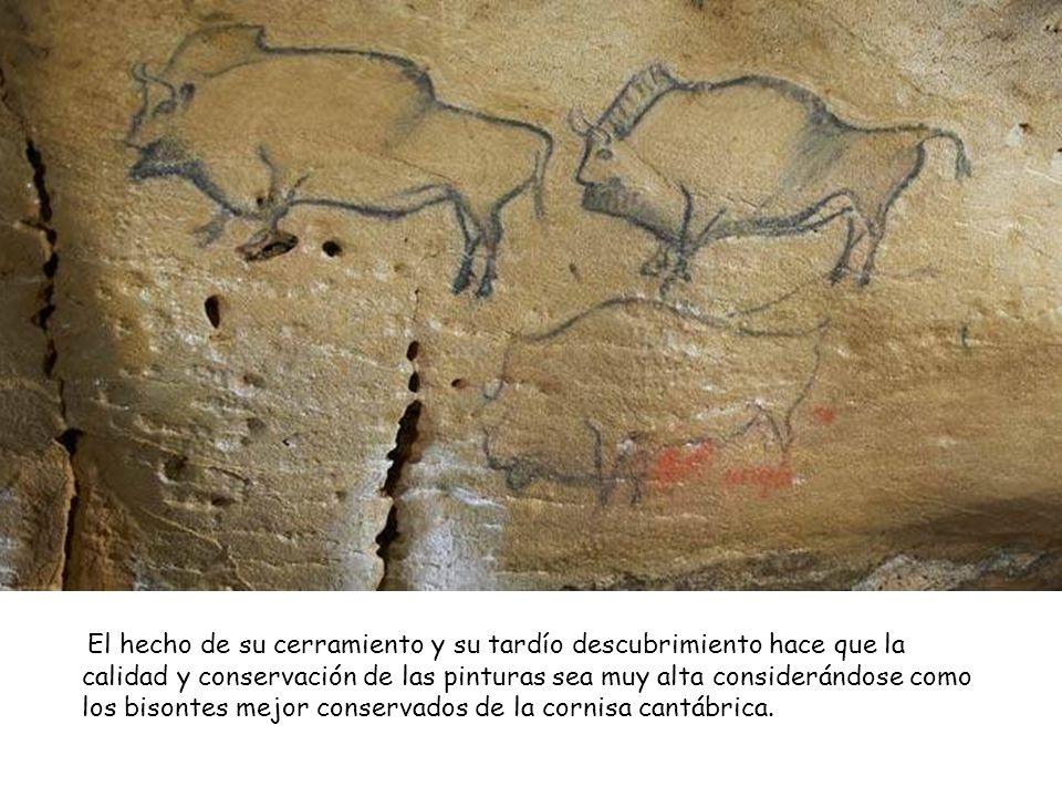Se trata de una cueva con una galería de cuarenta metros de largo que finaliza en una sala con pinturas rupestres paleolíticas del periodo magdalenien