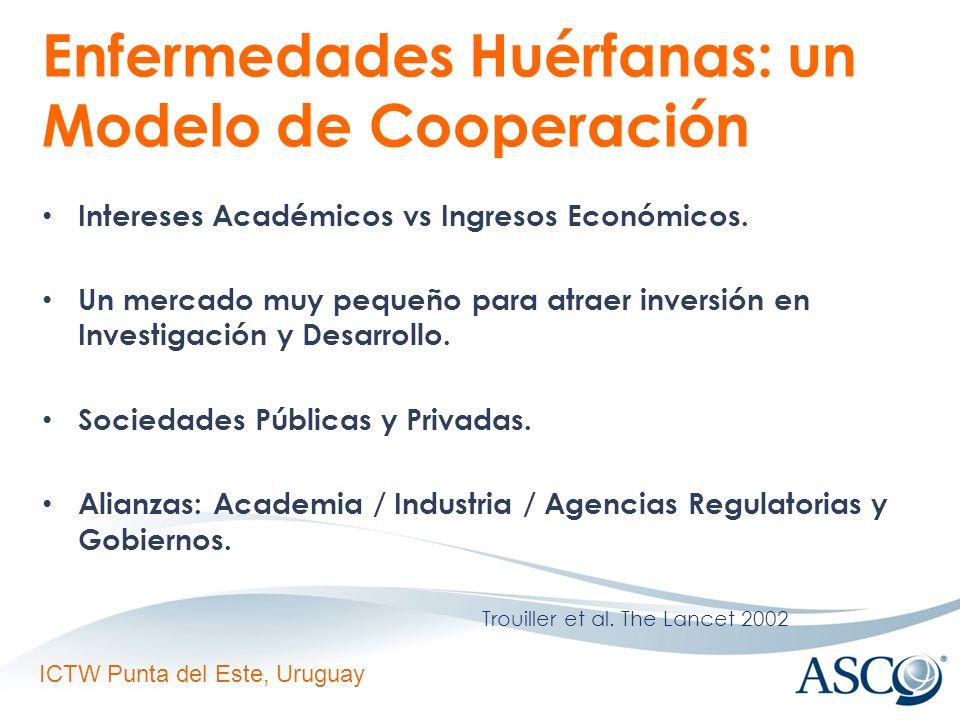 ICTW Punta del Este, Uruguay Enfermedades Huérfanas: un Modelo de Cooperación Intereses Académicos vs Ingresos Económicos.