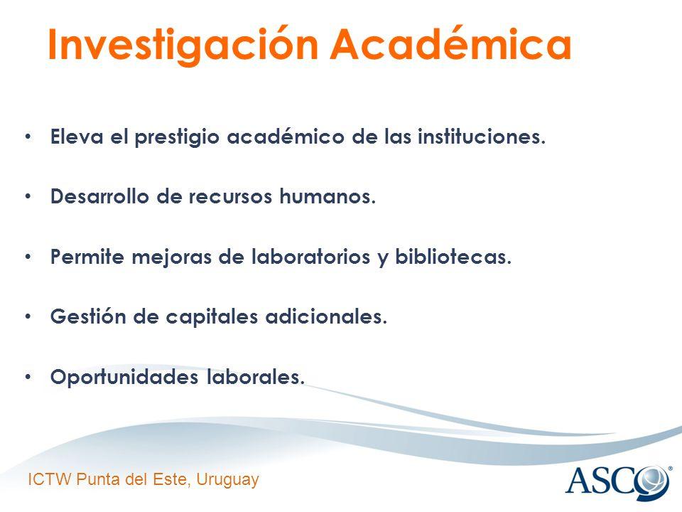 ICTW Punta del Este, Uruguay Investigación Académica Eleva el prestigio académico de las instituciones.