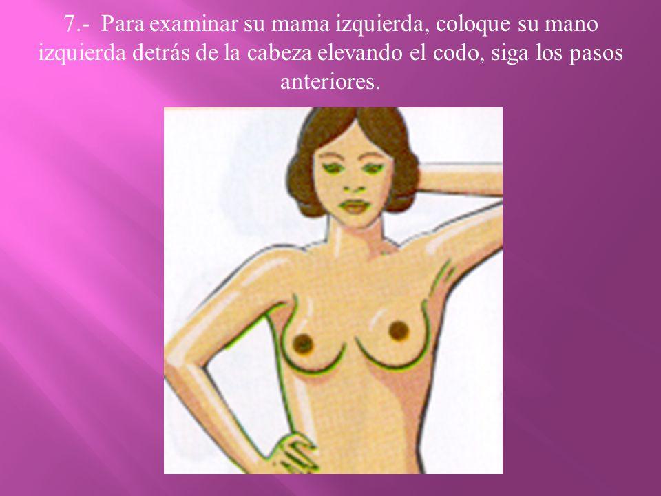 8.- Acuéstese y coloque una almohada o un trapo grueso doblado, bajo su hombro derecho.