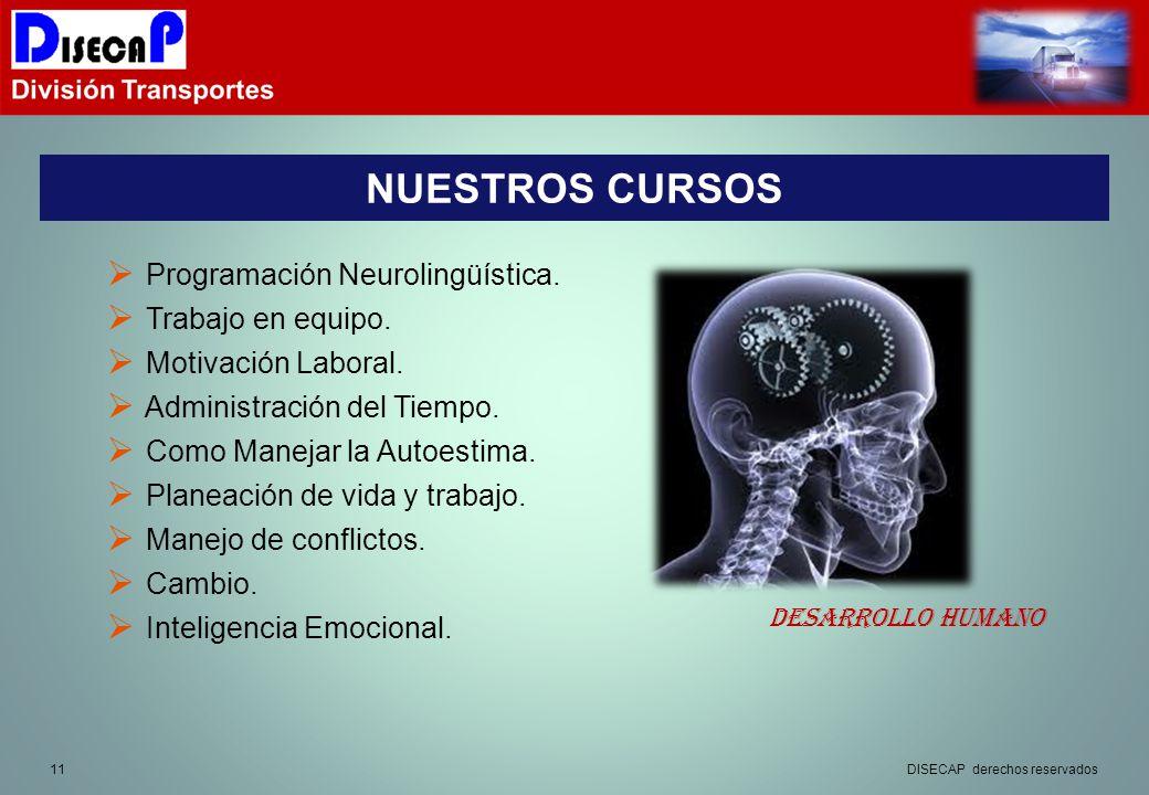 11 NUESTROS CURSOS Programación Neurolingüística.Trabajo en equipo.