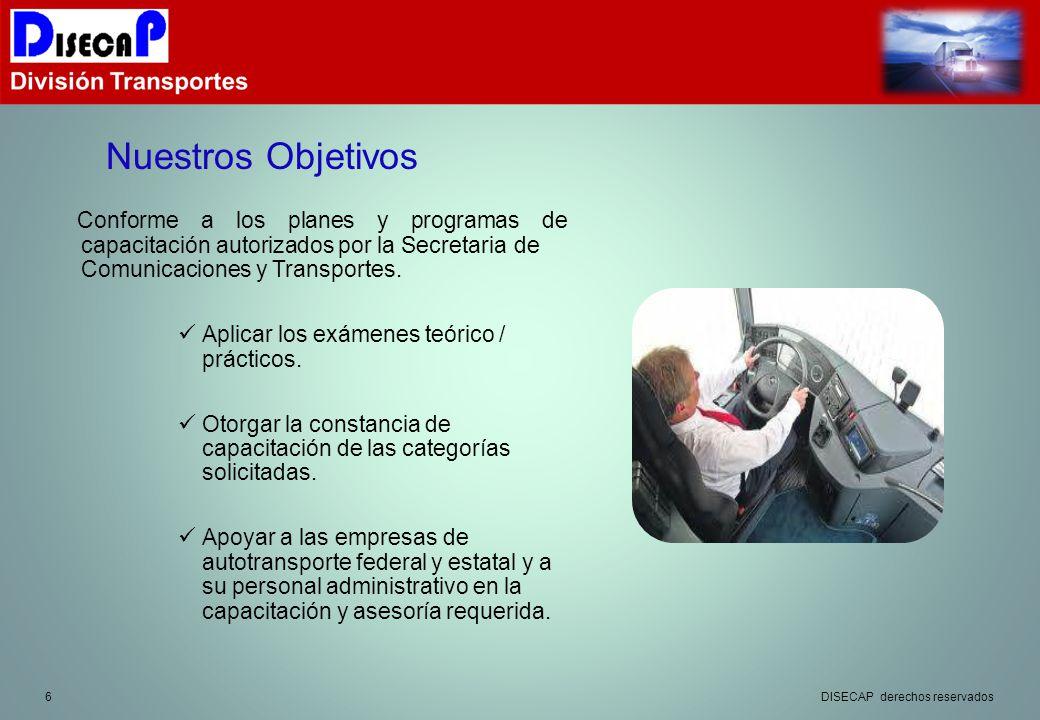6 Conforme a los planes y programas de capacitación autorizados por la Secretaria de Comunicaciones y Transportes.