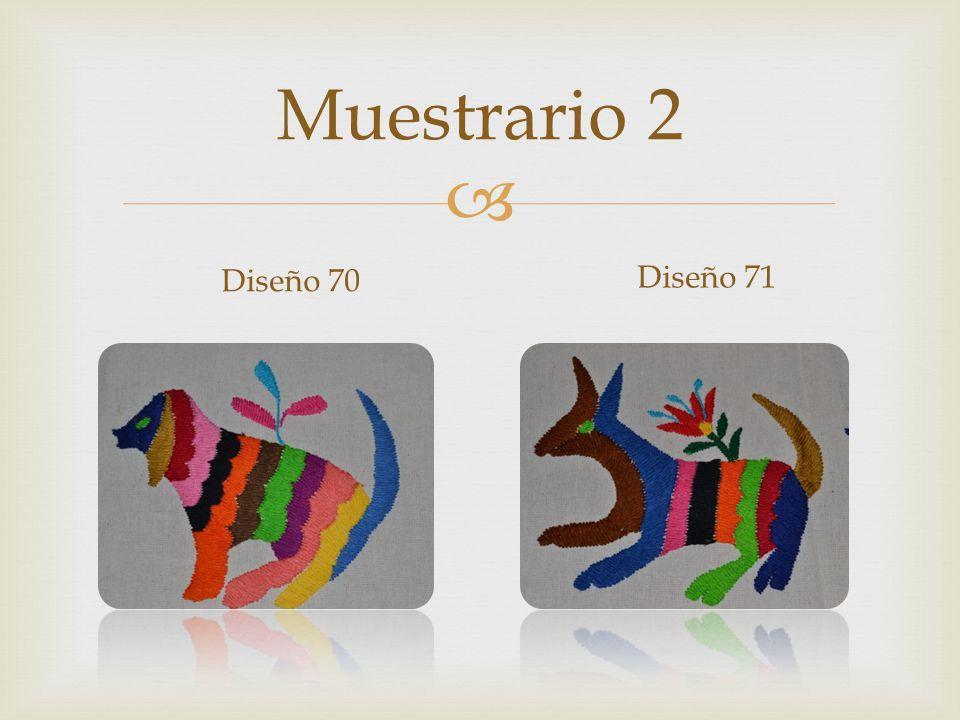 Muestrario 2 Diseño 70 Diseño 71
