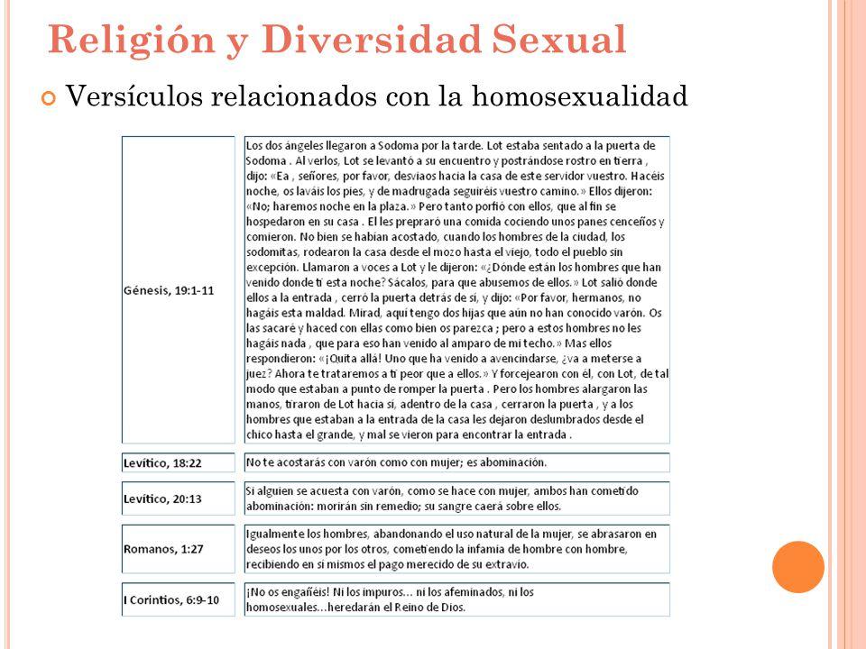 Religión y Diversidad Sexual Versículos relacionados con la homosexualidad