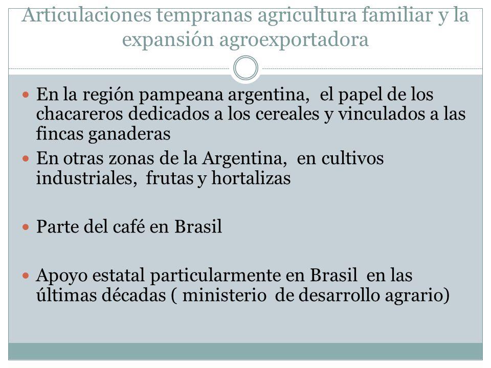 Articulaciones tempranas agricultura familiar y la expansión agroexportadora En la región pampeana argentina, el papel de los chacareros dedicados a l