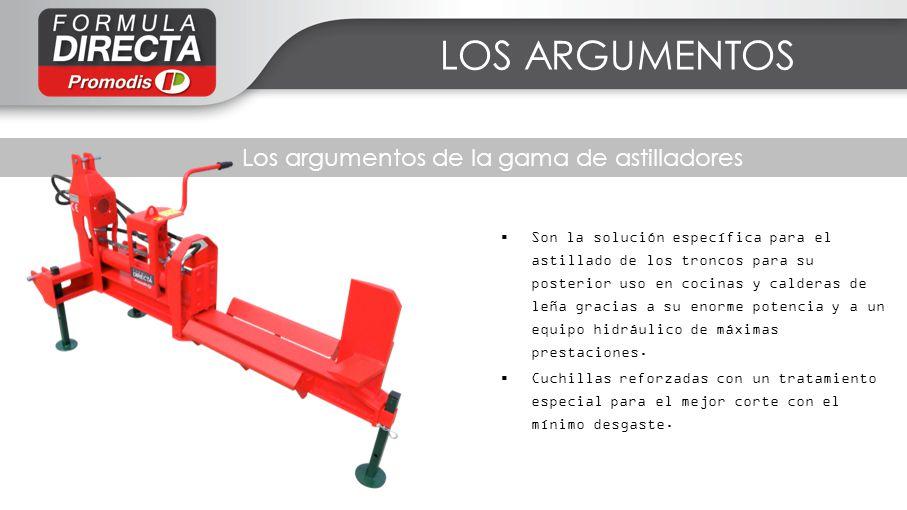 Les facteurs clés de succès LOS ARGUMENTOS Los argumentos de la gama de astilladores Son la solución específica para el astillado de los troncos para