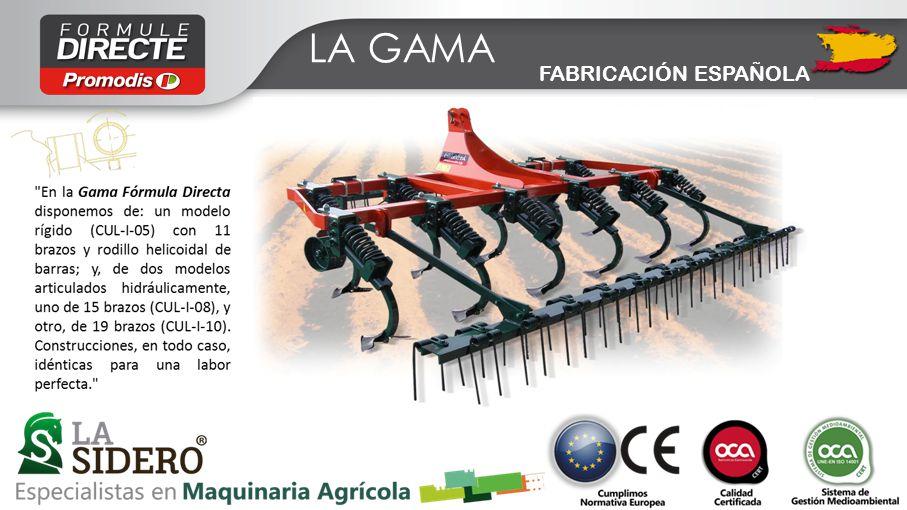 LOS ARGUMENTOS -Los Chisel tipo medio, o Semi-Chisel, Fórmula Directa han demostrado suficientemente su versatilidad y calidad en cualquier tipo de terreno, siendo aptos tanto para labores ligeras como para otras de entre 250 / 300 mm de profundidad.