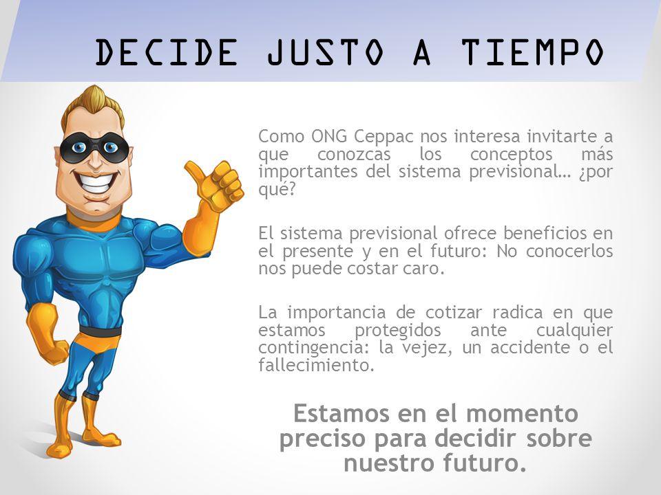 Taller informativo para trabajadores/as por cuenta propia DECIDE JUSTO A TIEMPO