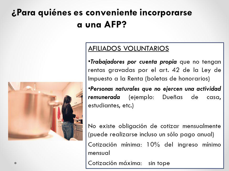 ¿Por qué es conveniente incorporarse a una AFP.