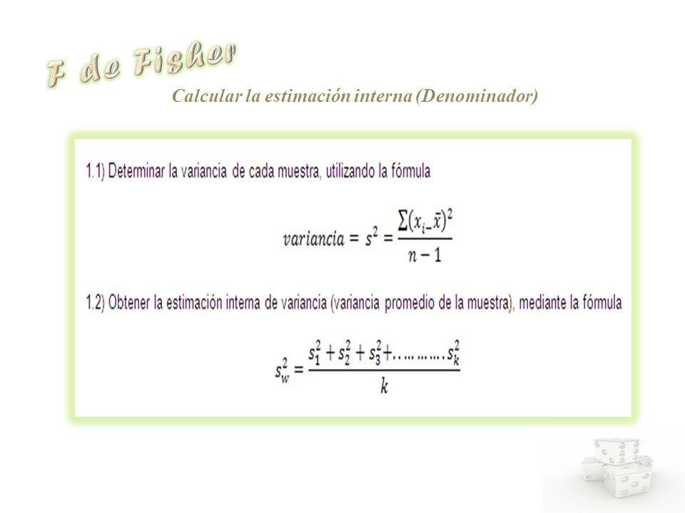 Calcular la estimación interna (Denominador)