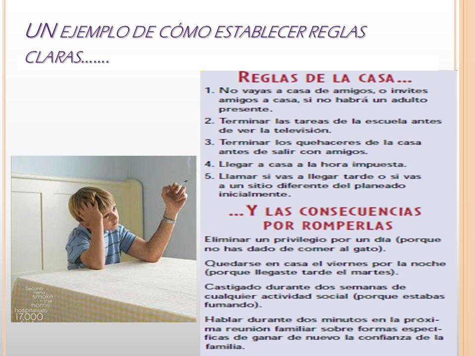 UN EJEMPLO DE CÓMO ESTABLECER REGLAS CLARAS …….