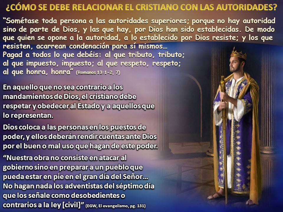 Sométase toda persona a las autoridades superiores; porque no hay autoridad sino de parte de Dios, y las que hay, por Dios han sido establecidas.